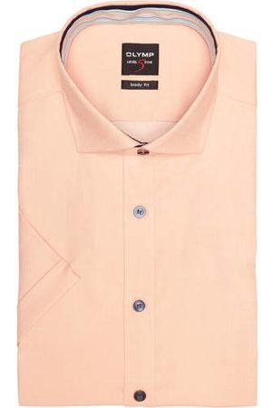 Olymp Herren Business - Kurzarm-Hemd Level Five Body Fit orange