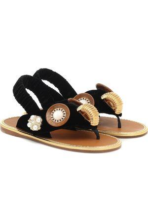 Miu Miu Verzierte Slingback-Sandalen