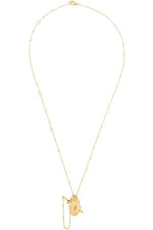 KASUN LONDON Vampire Heart' Halskette aus vergoldetem Sterlingsilber