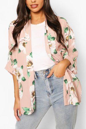 Boohoo Womens Kimono Mit Blumen-Print - - S/M
