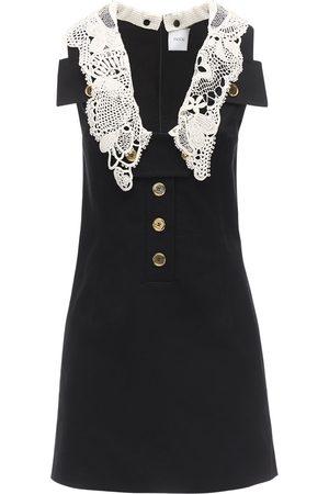 Patou Cotton Panama Dress W/ Crochet Detail