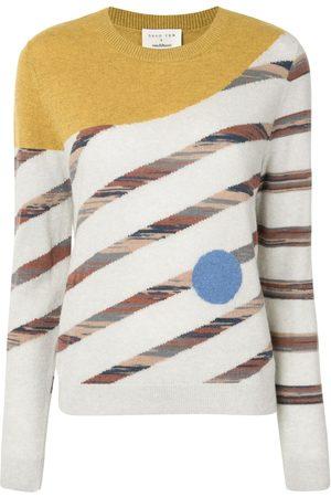 Onefifteen Damen Strickpullover - Pullover mit geometrischem Muster