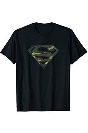 DC Comics Superman Distressed Camo Shield T Shirt