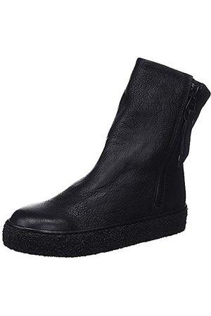 Mamatayoe Damen Leonor Schlupfstiefel, (Black Real Leather 001)