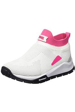 Primigi Mädchen Scarpa Bambina SUOLA Michelin Hohe Sneaker, (Bianco-Fuxia 5440900)
