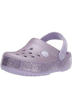 Crocs Unisex-Kinder Crocband Glitter Kids Clogs, (Lavender 530)