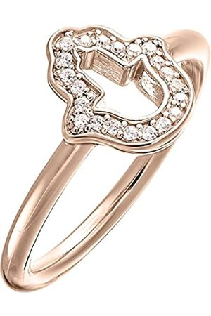 THOMAS SABO Damen-Ring Glam & Soul 925 Sterling Silber 750 rosegold vergoldet Zirkonia weiß Gr. 54 (17.2) TR2076-416-14-54