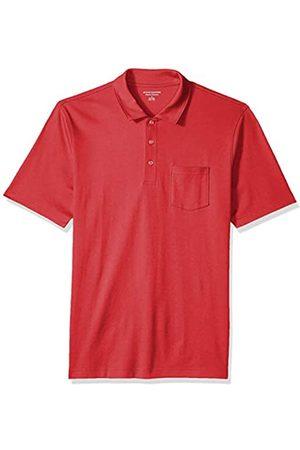 Amazon Essentials Herren-Poloshirt, reguläre Passform, mit Brusttasche, aus Jersey