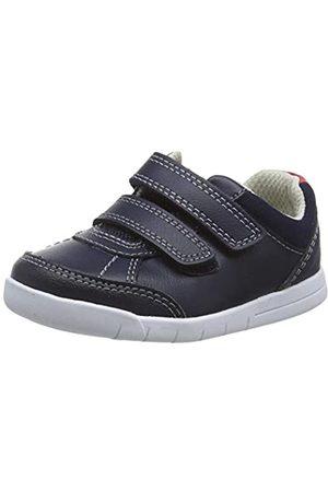 Clarks Jungen Emery Sky T Sneaker, Navy Leather