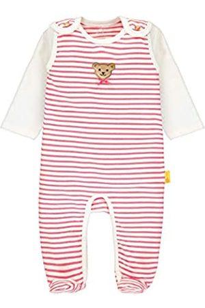 Steiff Baby-Mädchen mit Streifen und Teddybärmotiv_L002011125 Bekleidungsset