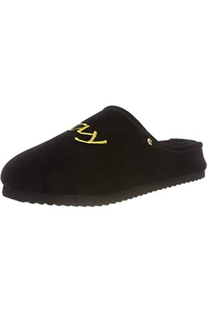 flip*flop Damen homestay Velvet Words Pantoffeln, (Black 0000)