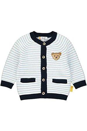 Steiff Baby-Jungen mit Streifen und Teddybärmotiv Strickjacke