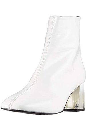 L'INTERVALLE Damen SOHO X White Naplack Halblange Stiefel