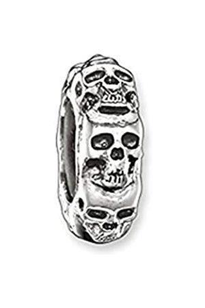 Thomas Sabo Damen Stopper für Kette Armband Karma Beads 925 Sterling geschwärzt Silikon KS0008-648-12