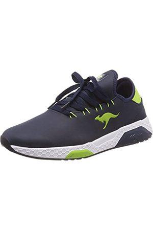 KangaROOS Unisex-Kinder Kadee Race Sneaker, (Dk Navy/Lime)