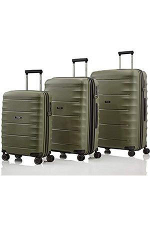 """Titan Super leichter Hartschalenkoffer """"Highlight"""" in 4 Größen im Carbon Look, Handgepäck mit Vortasche Koffer-Set, 75 cm"""