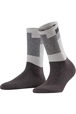 Falke Damen Socken Marble Brick, Baumwolle/Schurwollmischung, 1 Paar