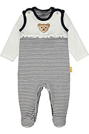 Steiff Baby-Mädchen Set Strampler + T-Shirt Langarm Bekleidungsset
