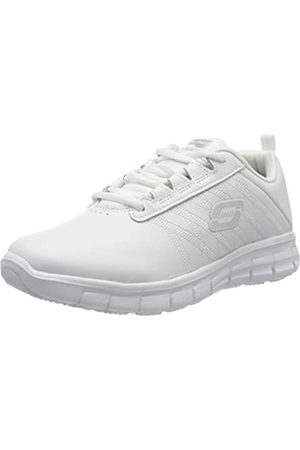 Skechers Women's Sure Track Erath - Ii Lace-up Sneakers, White (White Leather Wht)