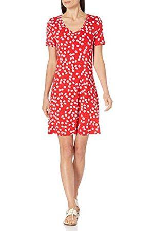 Amazon Short-Sleeve V-Neck Swing Dresses