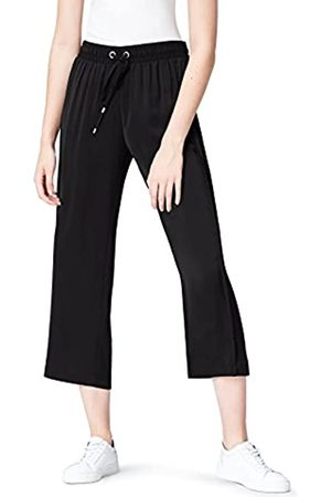 FIND Hose Damen mit weitem geradem Bein und Bundfalten