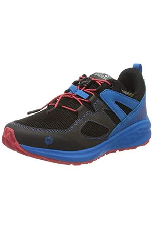 Jack Wolfskin Unisex-Kinder Unleash 2 Speed Vent Low K Cross-Trainer, (Black/Blue 6058)