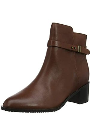 Clarks Damen Poise Freya Stiefeletten, (Mahogany Leather Mahogany Leather)
