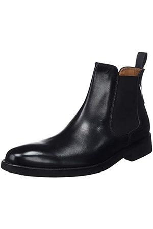 Lottusse Herren L6607 Chelsea Boots, (Ebony Negro Ebony Negro)