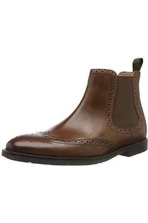 Clarks Men's Ronnie Top Chelsea Boots, (British Tan Leather)