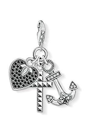 Thomas Sabo Damen Herren-Charm-Anhänger Kreuz Herz Anker Charm Club 925 Sterling Silber 1555-643-18