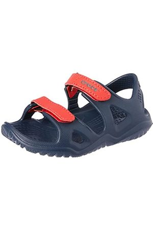 Crocs Unisex-Kinder Swiftwater River Sandalen, Blau (Navy/Flame 4ba)