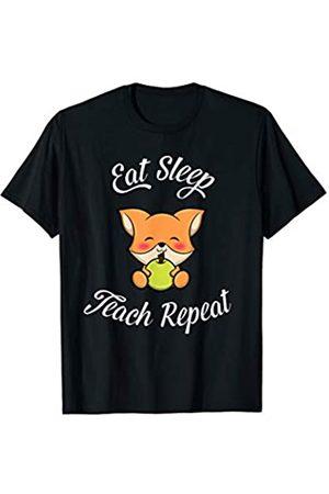 Eat Sleep Theach Lehrer T-Shirts Eat Sleep Teach Repeat T-Shirt | Lehrer Kindergarten Shirt T-Shirt