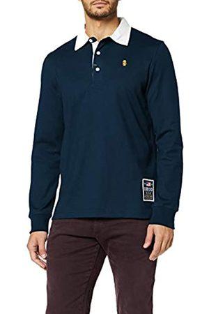 Izod Herren SOLID Longsleeve Rugby Polo Poloshirt