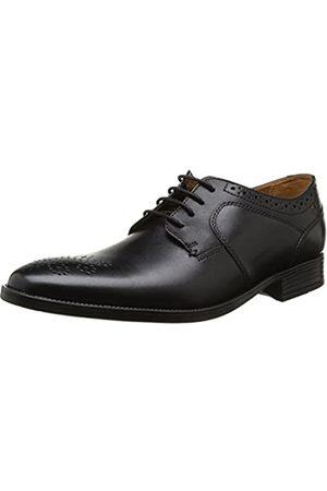 Clarks Herren Kalden Edge Derby, (Black Leather)
