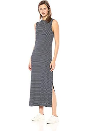 Daily Ritual Amazon-Marke: , Damen-Maxikleid aus Jersey mit Mock-Ausschnitt.