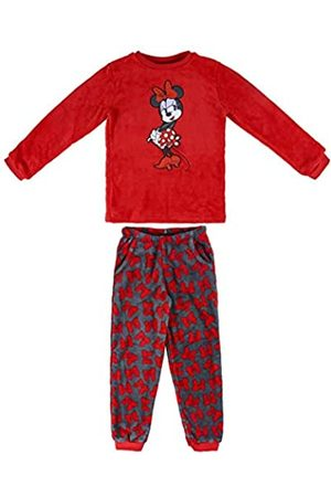 Artesanía Cerdá Mädchen Pijama Largo Coral Minnie Zweiteiliger Schlafanzug