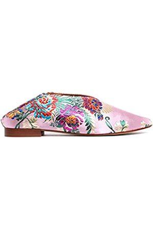 L'Intervalle Damen Felina Pink Fabric Hausschuh