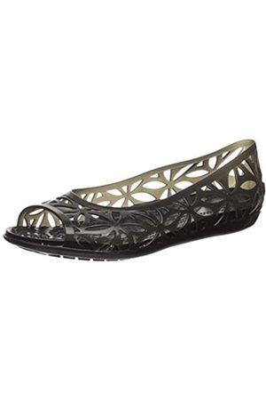 Crocs Isabella Jelly II Flat Women, Damen Sandalen, (Black/black)