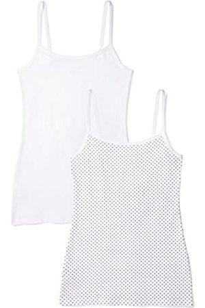 IRIS & LILLY Unterhemd Damen mit Spaghettiträger, Body Smooth, enge Passform 2er Pack