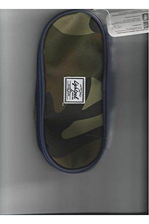 JSA Lightpak 46141 - Schreibgeräteetui WILD Child, Federmappe in blau, Stiftetui aus Polyester, Federmäppchen mit großem Hauptfach und 4 elastischen Bändern, Stifteetui ca. 9,5 × 23