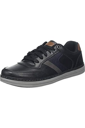 Skechers SKEAJ Herren Heston Sneaker, (Black Leather Blk)