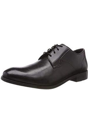 Clarks Herren Edward Plain Derbys, (Black Leather)