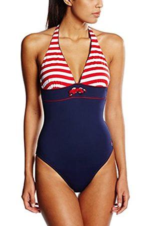Haute Pression Damen Badeanzug, Gestreift, Gr. DE 34 (Herstellergröße : 36)