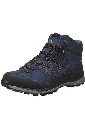 Regatta Herren Samaris Ii Mid' Waterproof Walking Boots Trekking- & Wanderstiefel, (Navy/Burnt Salmon F96)