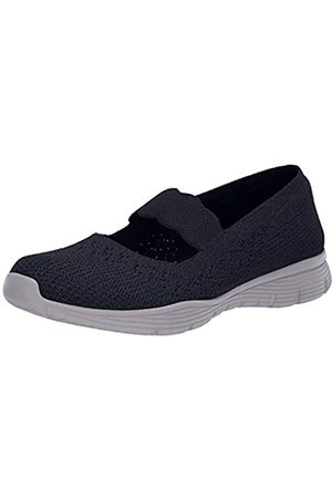 Skechers Women's Seager-Power Hitter Mary Janes, Blue (Navy Nvy)