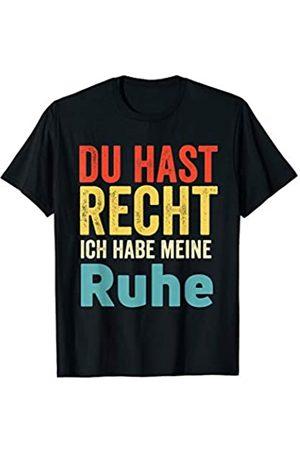 Mit lustigen Sprüchen by PeeKay vintage design Du Hast Recht Ich Hab Meine Ruhe design - Vintage Edition T-Shirt