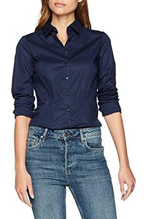 Seidensticker Damen Bluse Hemd Hemdbluse Langarm Slim Fit Uni Stretch