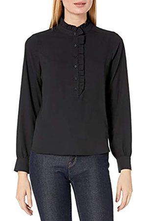 Lark & Ro Long Sleeve Ruffle Placket Button-up Blouses