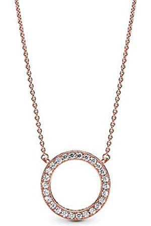 PANDORA Damen-Halskette Logo Rosé 45cm 580515CZ-45