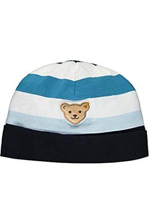 Steiff Baby-Jungen mit Streifen und Teddybärmotiv Mütze